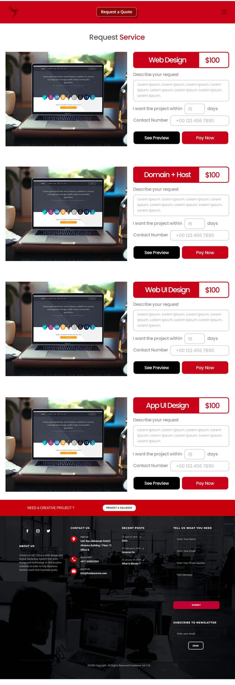 Penyertaan Peraduan #3 untuk UI design to generate e commerce section in Home page