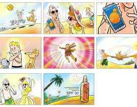 #35 for Storyboard and create a children's book around sunscreen/sunsafety af papadj
