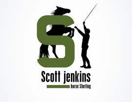 "#1 para A logo and Facebook banner. ""Scott Jenkins Horse Starting"" por shroukshawky91"