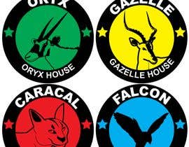 Nro 14 kilpailuun 4 School House Logos. We have Oryx (green), Gazelle (yellow), Falcon (blue) and Caracal (red). See image 1 for more details. Ive attached examples of online images. käyttäjältä mehdimad
