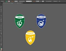 Nro 33 kilpailuun 4 School House Logos. We have Oryx (green), Gazelle (yellow), Falcon (blue) and Caracal (red). See image 1 for more details. Ive attached examples of online images. käyttäjältä Arfankha