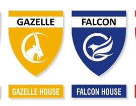 Nro 17 kilpailuun 4 School House Logos. We have Oryx (green), Gazelle (yellow), Falcon (blue) and Caracal (red). See image 1 for more details. Ive attached examples of online images. käyttäjältä dhannu
