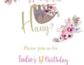 #13 สำหรับ A first birthday party invitation โดย sonalfriends86