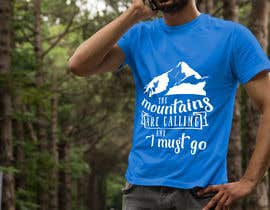 #18 for Design a Mountain T-Shirt with motto af pgaak2