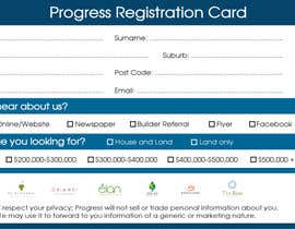 #21 для Design a Registration Card от smizaan