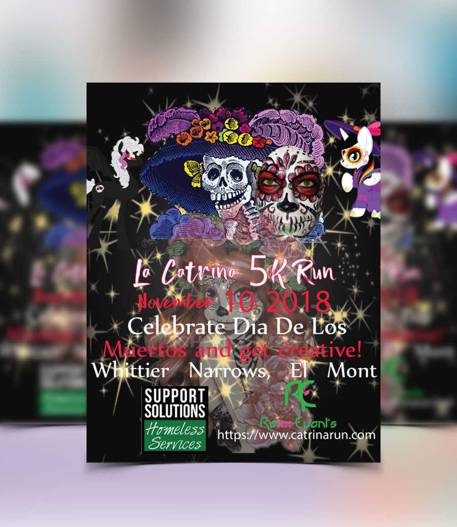 entry 28 by amritamree for design a flyer 2018 catrina 5k