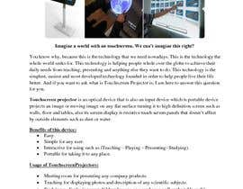 "#5 pentru Write an article titled ""Introduction Of The Touchscreen Projector"" de către yasserelsheemy91"