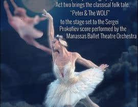 #9 para Design a Flyer for a Ballet show postcard mailer por Era031