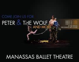 #6 para Design a Flyer for a Ballet show postcard mailer por theleaningelm