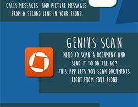 Nro 8 kilpailuun Design an simple info graphic for top 10 apps käyttäjältä gamesbondcat