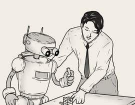 #15 para Draw a robot and a human in a business scene por RafaelRenoldi