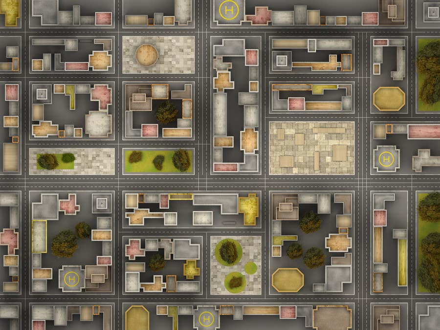 Конкурсная заявка №9 для Top Down City Map View