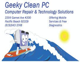 #19 for Geeky Clean PC Logo Update and New Location by skybd1
