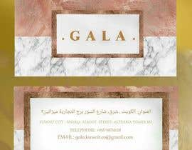nº 45 pour I need some graphic design. For business card and price tag , my company name is GALA , color: rose gold & off white. par Saran2u