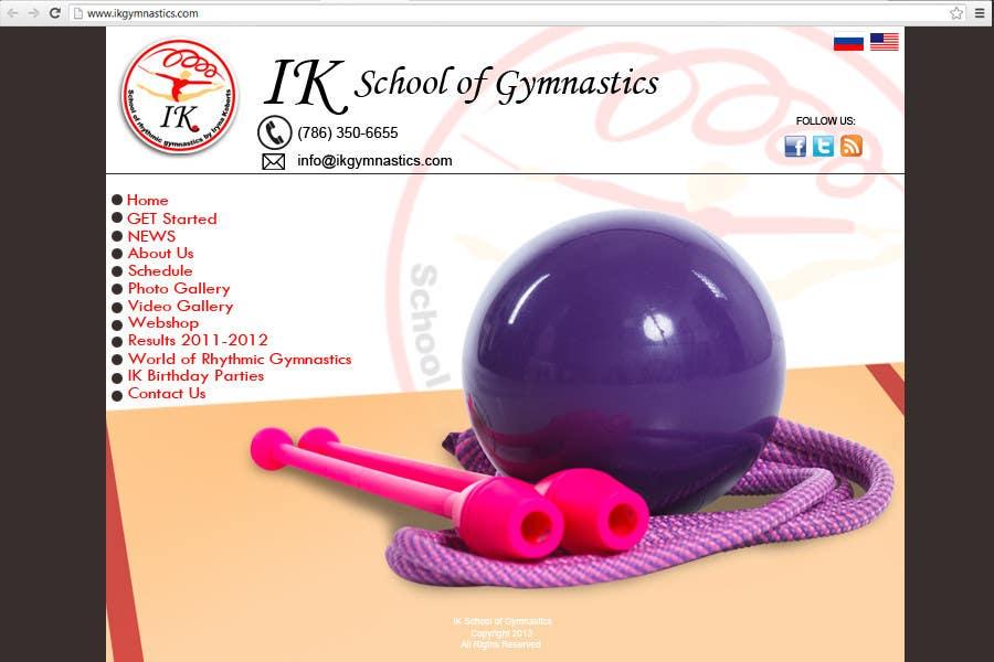 #37 for Website Design for ik gymnastics LLC by rogeliobello