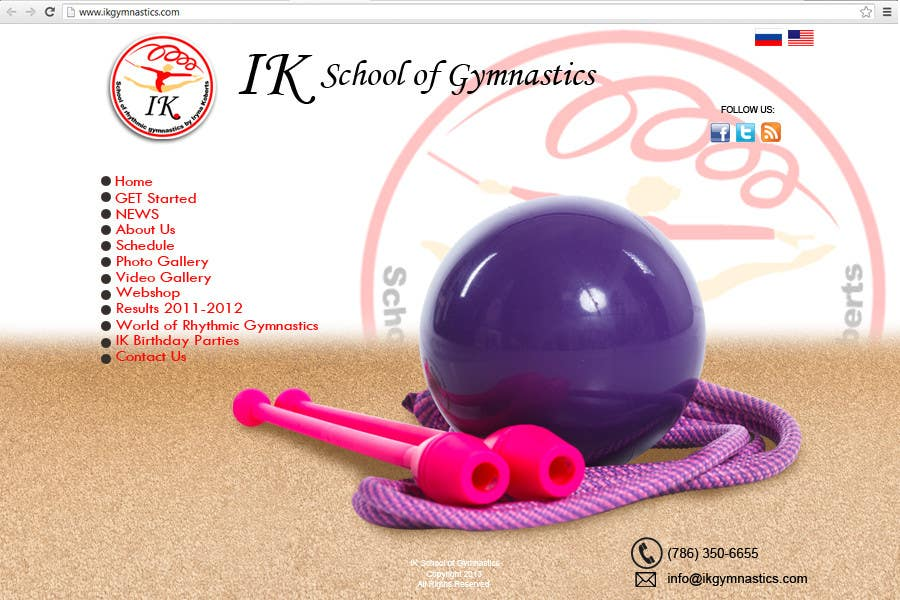 #41 for Website Design for ik gymnastics LLC by rogeliobello