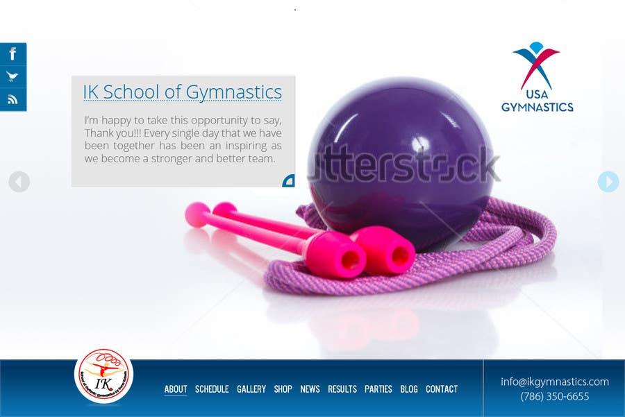 #18 for Website Design for ik gymnastics LLC by datagrabbers