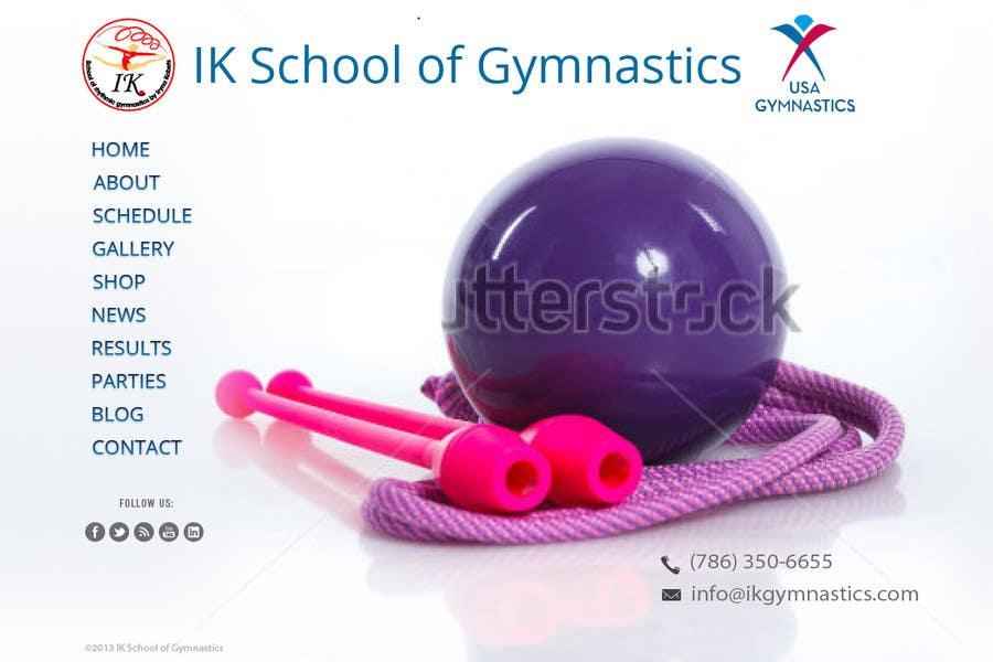 #31 for Website Design for ik gymnastics LLC by datagrabbers