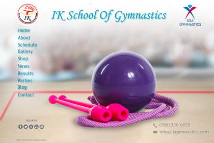 #45 for Website Design for ik gymnastics LLC by datagrabbers