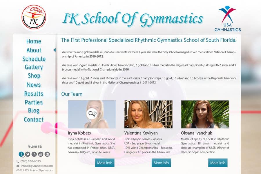 #64 for Website Design for ik gymnastics LLC by datagrabbers