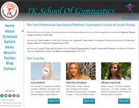 #68 para Website Design for ik gymnastics LLC por datagrabbers