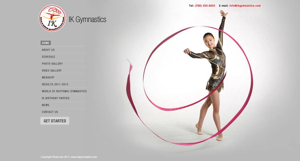 #70 for Website Design for ik gymnastics LLC by vijayadesign