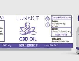 Nro 17 kilpailuun Design a label for a cbd tincture/oil käyttäjältä blindemptiness
