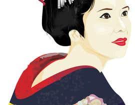 #7 untuk Improve and finish Geisha design for T shirt oleh letindorko2