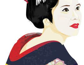 #9 untuk Improve and finish Geisha design for T shirt oleh letindorko2