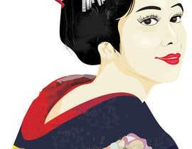 #21 untuk Improve and finish Geisha design for T shirt oleh letindorko2