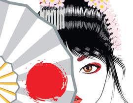 #14 untuk Improve and finish Geisha design for T shirt oleh Roben42