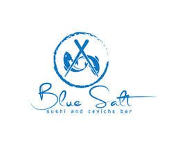 Nro 1121 kilpailuun Design a Logo for Blue Salt sushi and ceviche bar käyttäjältä BlueRose07