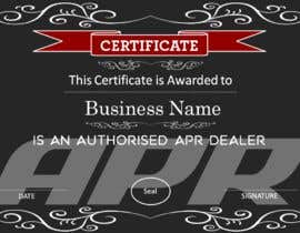 Nro 7 kilpailuun Certificate design - authenticity käyttäjältä AkS0409