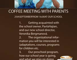 #9 для Create a coffee invitation for preschool parents от mustufazaman