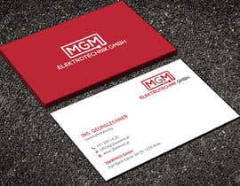 #158 for Design a business card for MGM Elektrotechnik GmbH af aminur33