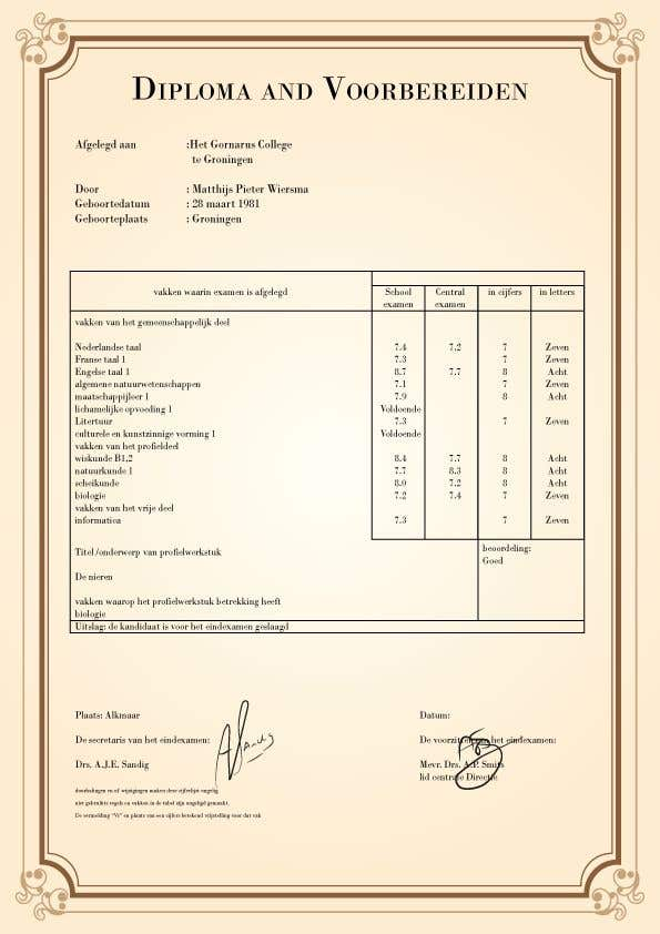 Конкурсная заявка №6 для Need a college degree certificate created quickly. WIll end contest asap once completed!!