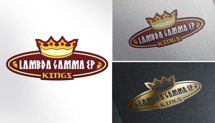 Kilpailutyö #2 kilpailussa we are a small organization that has been using the same logo (kings for years) we are looking for a new one to use for our social media and other things themes we typically stick w is a 4 pointed crown, knights and castles our letters are Lambda Gamma Ep