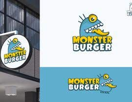 #46 para I wanna make logo for a restaurant,, the restaurant name ( monsters burgers) i post some photos I would like if the logo like thise stuff they looks like what i am imagination for the monster. de Attebasile