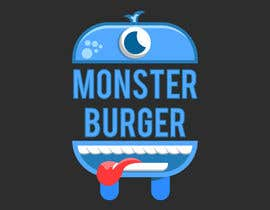 #57 para I wanna make logo for a restaurant,, the restaurant name ( monsters burgers) i post some photos I would like if the logo like thise stuff they looks like what i am imagination for the monster. de OZK4N