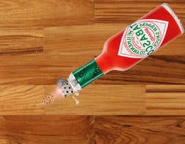 #8 for I need a picture of a Tabasco bottle on his side. And few drops that spilled of it burned the table. It need to be a close up from the side and need to look realistic as well. Thanks to the helpers!  (Good work may provide more to the creators) by rahmanmijanur126