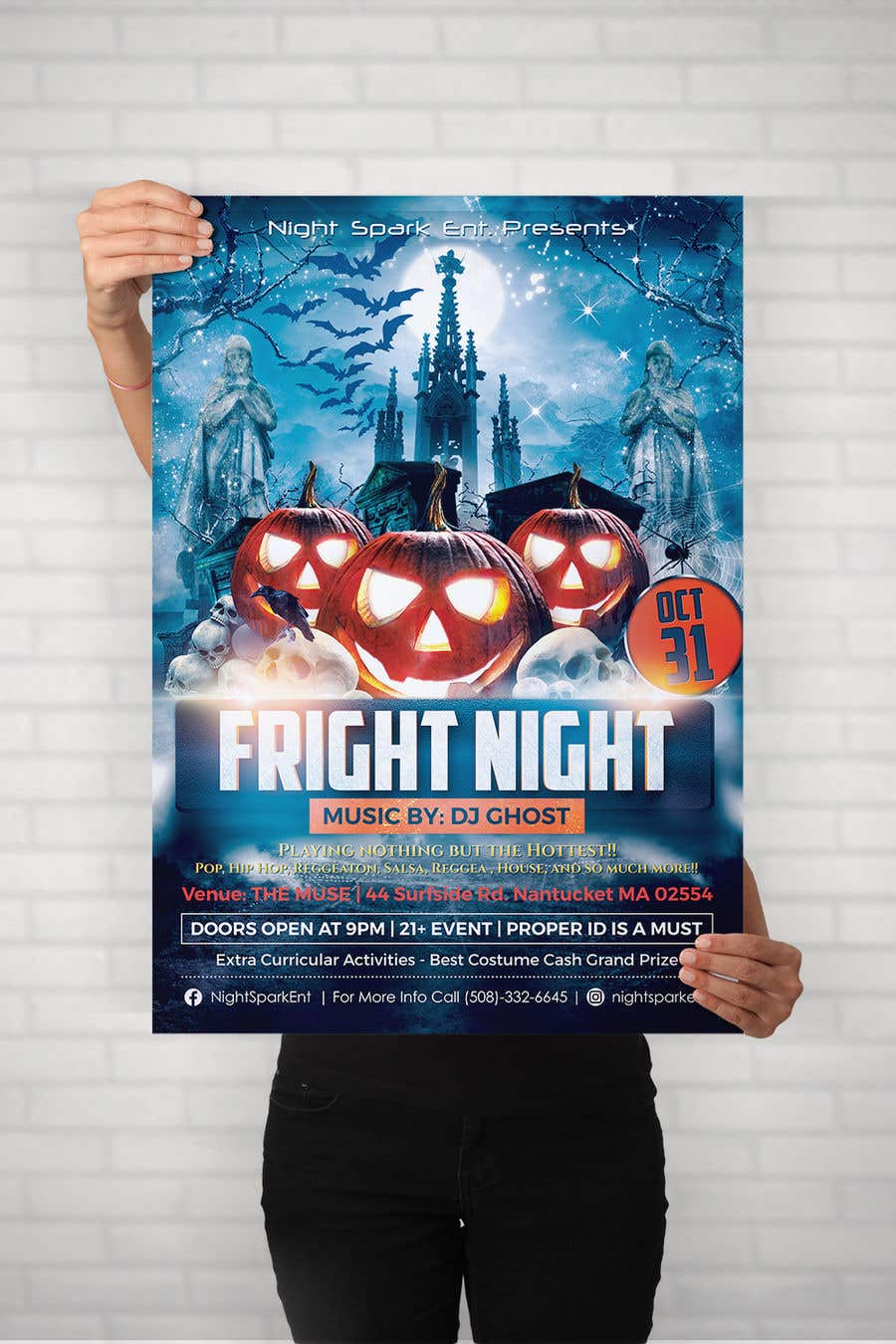 entry 58 by moon5729 for design the best halloween flyer freelancer