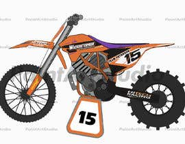 nº 11 pour Cartoon drawing of the orange bike made similar to the green one par Shtofff