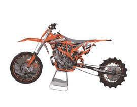 nº 9 pour Cartoon drawing of the orange bike made similar to the green one par hernanriveravzla