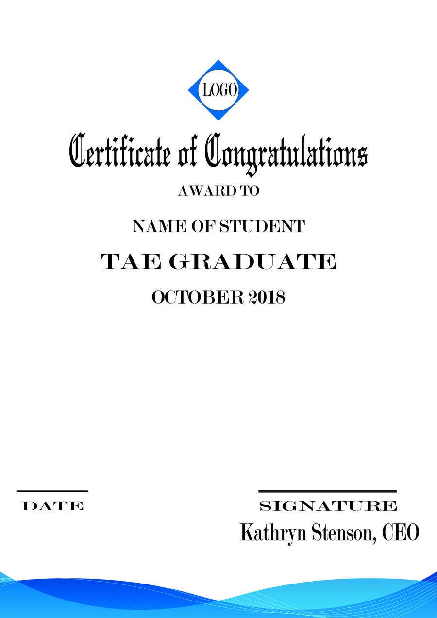 Entry #3 by Heartbd5 for Certificate template | Freelancer