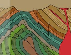 #22 for Create A Graphic of a Geological Cross Section for a Glass Partition by dipta165