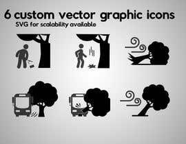 #62 para 6 custom vector graphic icons por aGDal