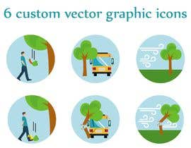 #61 for 6 custom vector graphic icons af Aminelogo