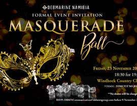 Nro 62 kilpailuun Formal masquerade event invite käyttäjältä hernanriveravzla