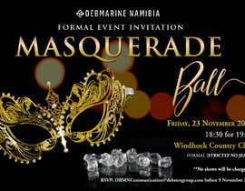Nro 63 kilpailuun Formal masquerade event invite käyttäjältä hernanriveravzla