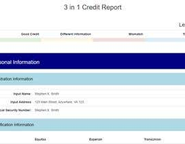 #6 for Credit Report HTML by danielminovski1